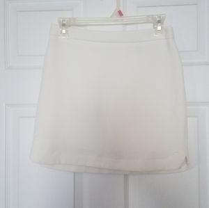 White mini skirt, xs/0. Fully lined